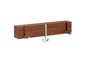 Massief houten wandhaak ANCORA TRE noten