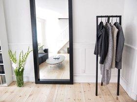 Kledingrek/Garderobe Triple zwart 60 en 120 cm