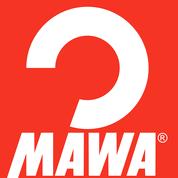 Metalen anti-slip dameshanger Mawa SHE wit met brede schouderkop