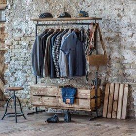 Essenhouten garderobehanger 'vintage authentic'
